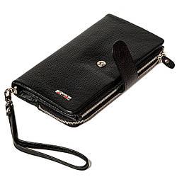 Мужской клатч кожаный черный BUTUN 022-004-001