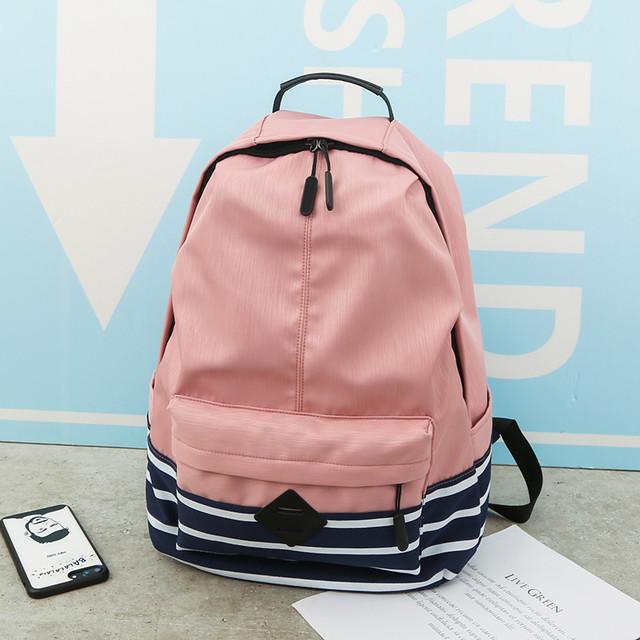 Рюкзак з нейлону рожевий