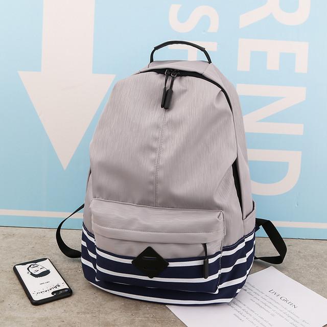 Рюкзак з нейлону сірий