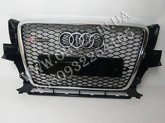 Решетка радиатора Audi Q5 2008-2012 стиль RSQ5 (хром окантовка)