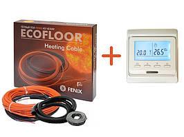 Кабель нагревательный Fenix ADSV181200 ( 6.8 м2) с программируемым терморегулятором в комплекте (KIT5510)