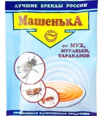 Инсектицид Машенька для уничтожения мух, тараканов и муравьев гранулы 10 г