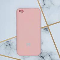 Силиконовый матовый чехол Silicone Case для Xiaomi Redmi Go Розовый