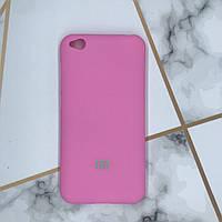 Силиконовый матовый чехол Silicone Case для Xiaomi Redmi Go Ярко-розовый
