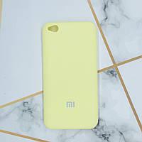Силиконовый матовый чехол Silicone Case для Xiaomi Redmi Go Жёлтый
