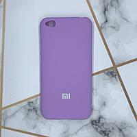 Силиконовый матовый чехол Silicone Case для Xiaomi Redmi Go Фиолетовый