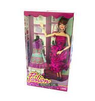 """Кукла с темными волосами типа """"Барби"""" 818-2 (60шт/2), с платьем,диадема,сумочка,туфли,в кор.19*7*33, scs"""