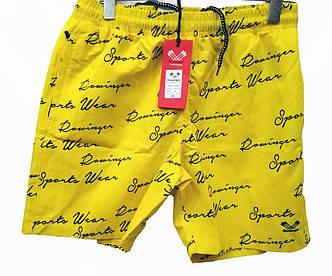 Шорты мужские для плавания Rowinger плащевые с надписями , фото 2