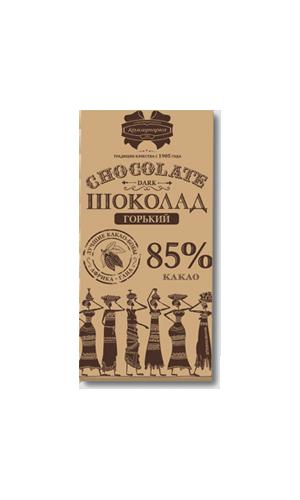 """Белорусский горький шоколад """"85% крафт"""" 90 гр ТМ Коммунарка"""