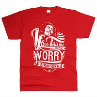 Bob Marley 07 Футболка мужская Красный, XXL