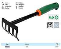 Граблі садибні FLO міні, 5 зубів