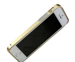 Бампер для Iphone 5/5S/5SE Металлический, gold