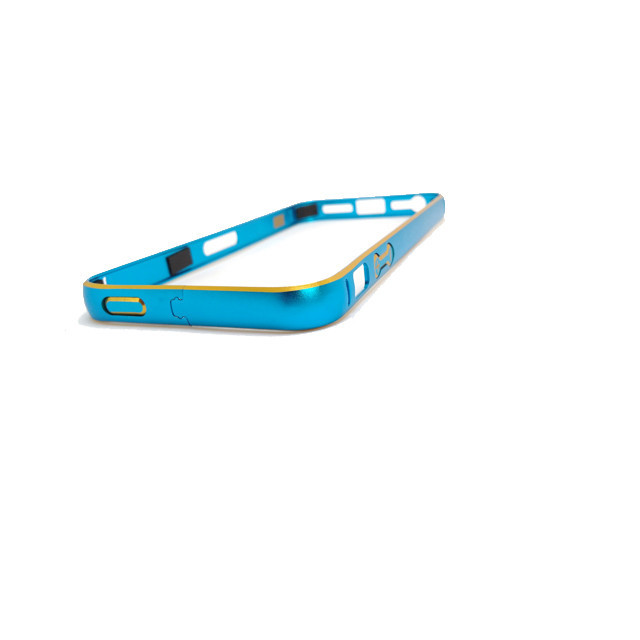 Бампер металлический ультратонкий для Iphone 5/5S/5SE бирюзовый