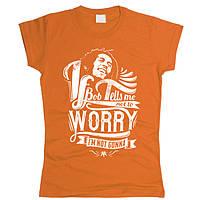 Bob Marley 08 Футболка женская Оранжевый, M