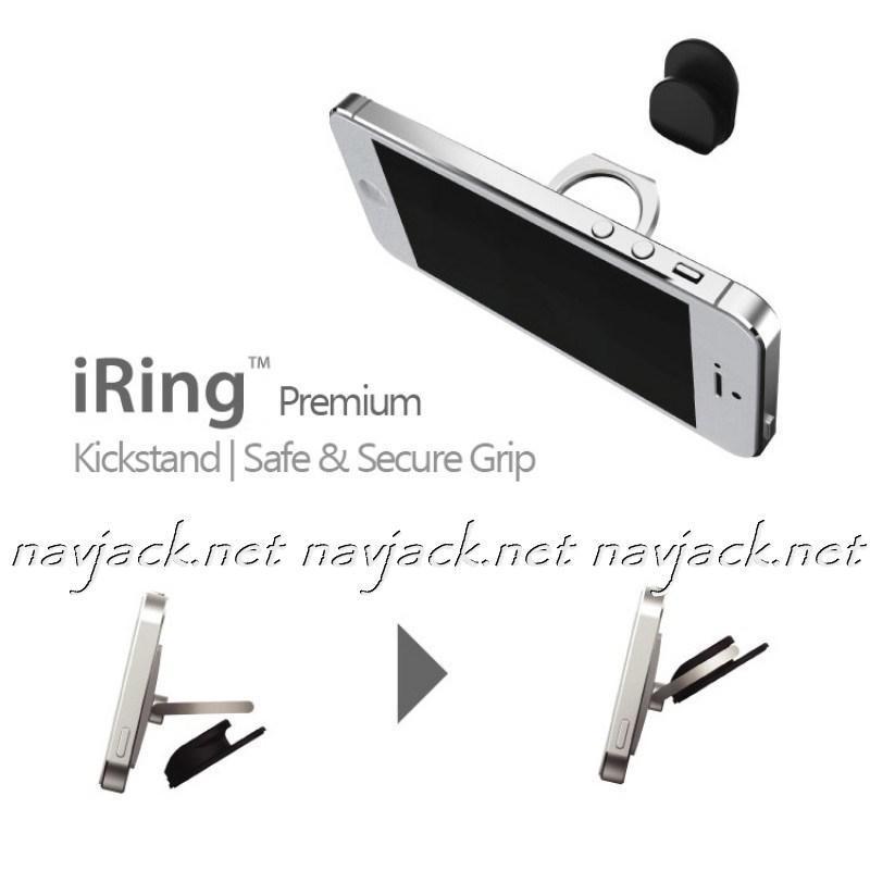 Кольцо-Подставка Iring Black для телефона, планшета +держатель в авто