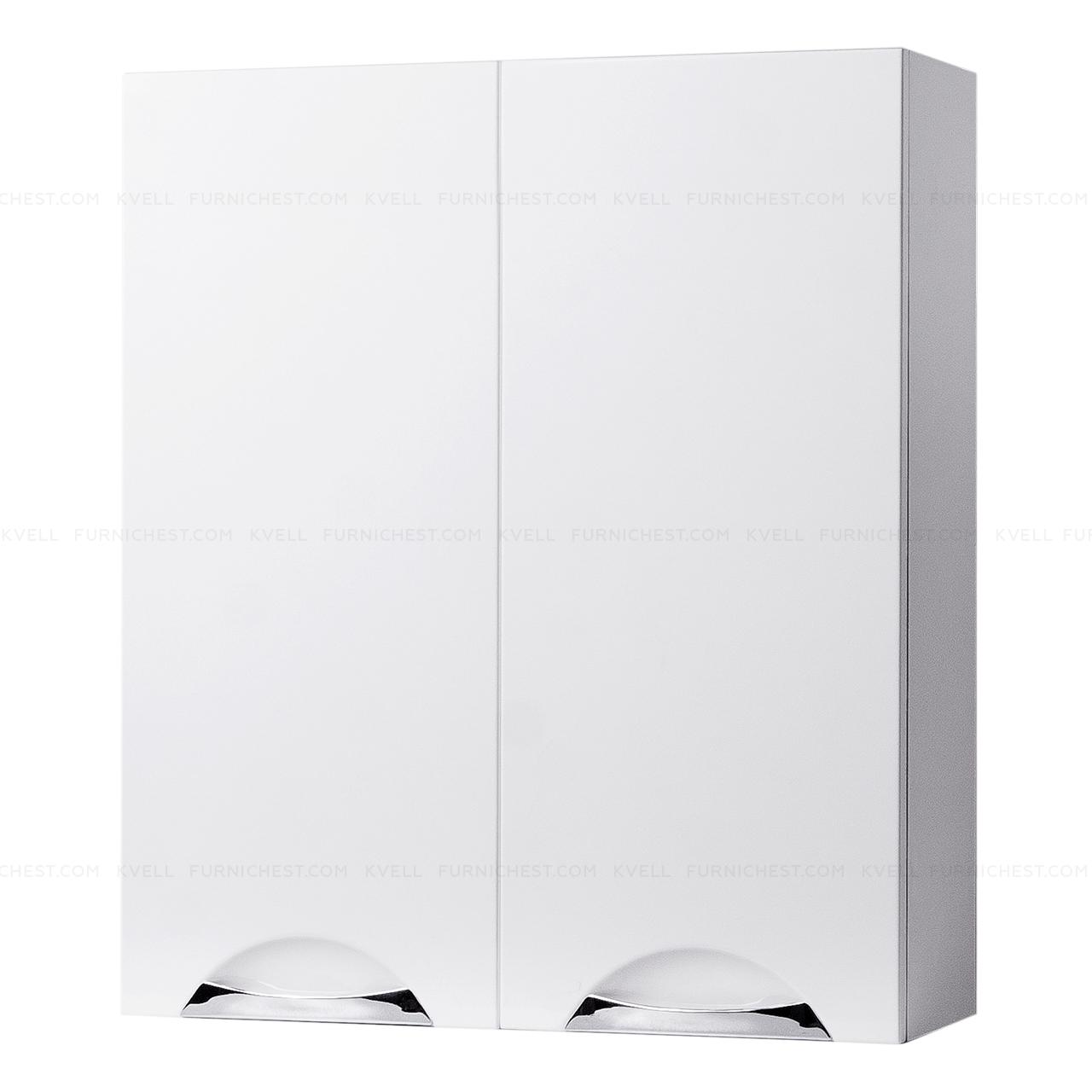Навесной шкафчик с двумя дверками для ванной комнаты ГРАЦИЯ 55 (белый)
