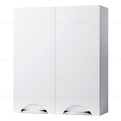 Навесной шкафчик с двумя дверками для ванной комнаты ГРАЦИЯ 55 (белый), фото 2