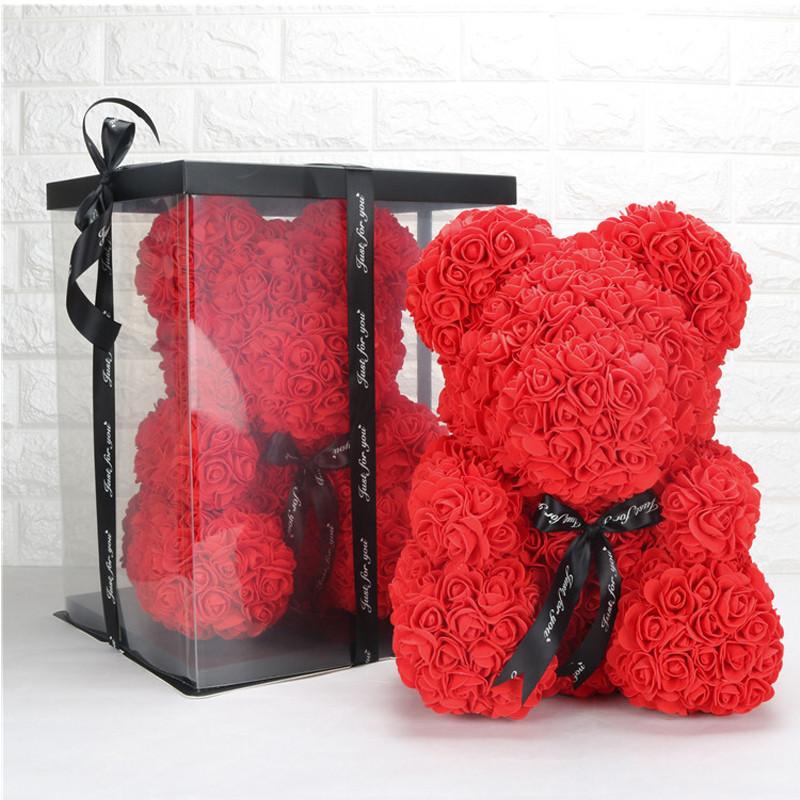 Мишка ОРИГИНАЛ из роз в коробке 25 см Bear Flowers в Харькове