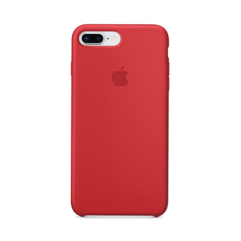 Накладка чехол для  iPhone 7 plus/Iphone 8 plus Silicone case, красный