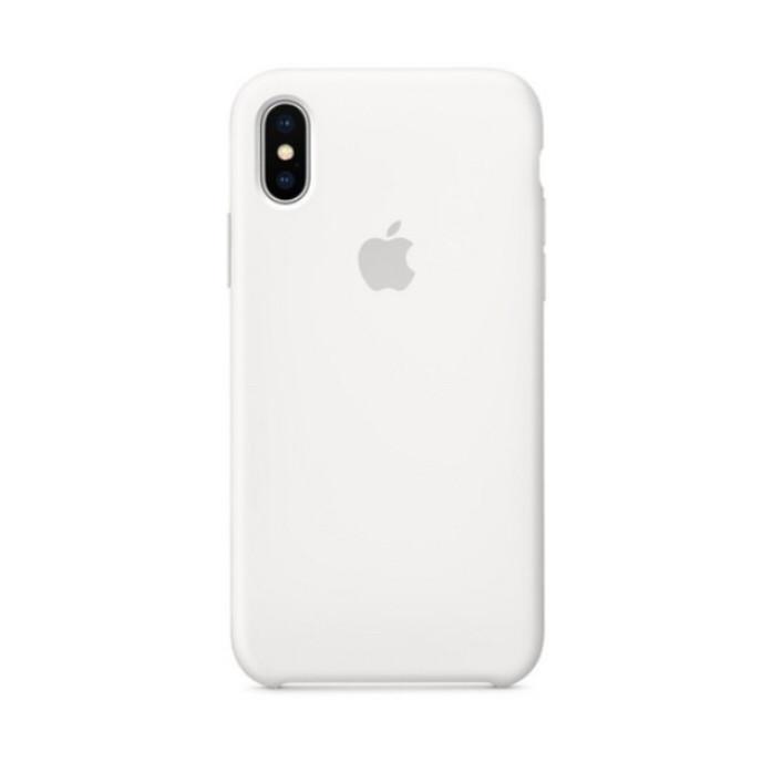 Накладка чехол для  iPhone X/Iphone XS/XS max Silicone case, белый