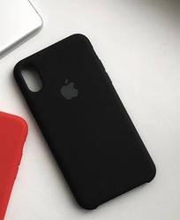 Накладка чехол для  iPhone X/Iphone X/XS max Silicone case, черный