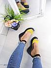 Женские босоножки желтого цвета на танкетке, из натуральной кожи (в наличии и под заказ 5-7 дней), фото 3