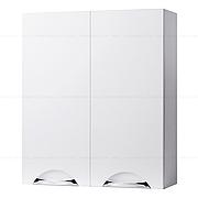 Навесной шкафчик с двумя дверками для ванной комнаты ГРАЦИЯ 60 (белый)