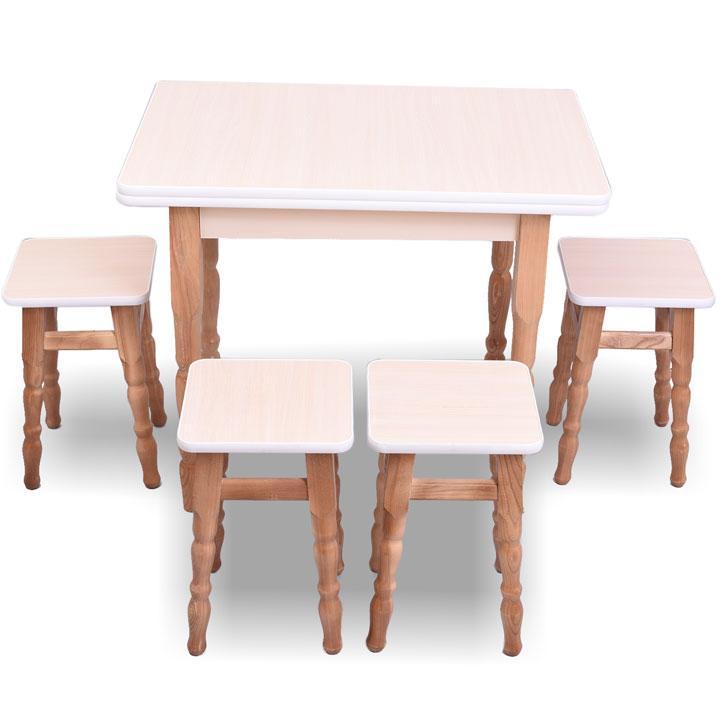 "Раскладной стол с табуретками ""Дуб молочный"""