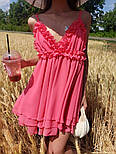 Женский нежный сарафан на бретелях с открытой спиной (в расцветках), фото 3