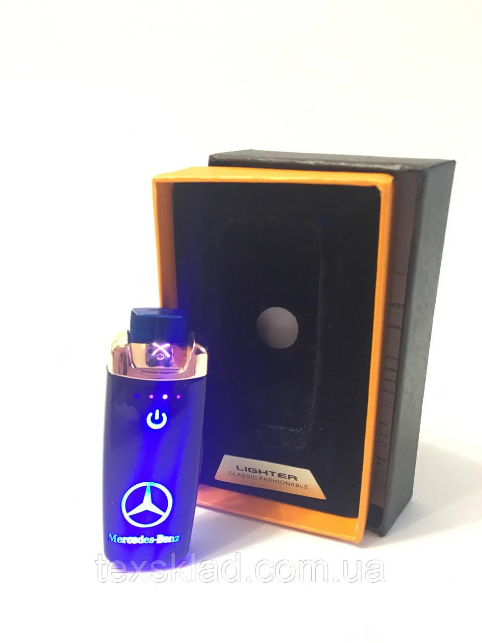 Электроимпульсная зажигалка Mercedes-Benz sensor USB / Разноцветная(5406)