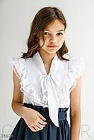 Стильная блуза на завязках 134