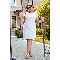 Жіноча сукня літня з льону та прошви ментол, 50