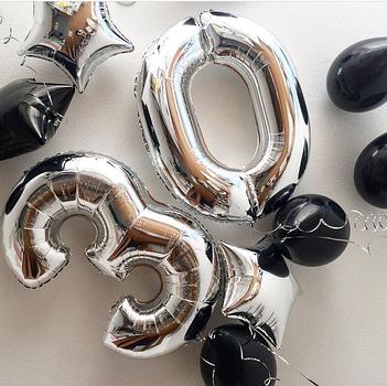 Фольгированные шары-цифры с гелием Винница
