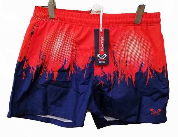 Шорты мужские для плавания Rowinger плащевые красно-синие, фото 2