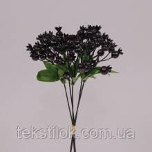 Пучок ягод черных зелень искусственная