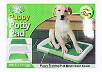 Туалет для собак Puppy Potty Pad  (W-25), Туалет для щенков, Собачий туалет, Домашний туалет лоток для собак