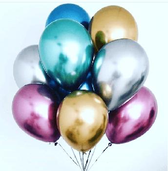 Воздушные шары хром с гелием Винница