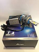 Автолампа LED T1 H4, Led лампы для автомобиля, Светодиодная лампа автомобильная, Автосвет