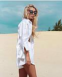 Женский льняной костюм: рубашка-накидка и шорты (в расцветках), фото 2
