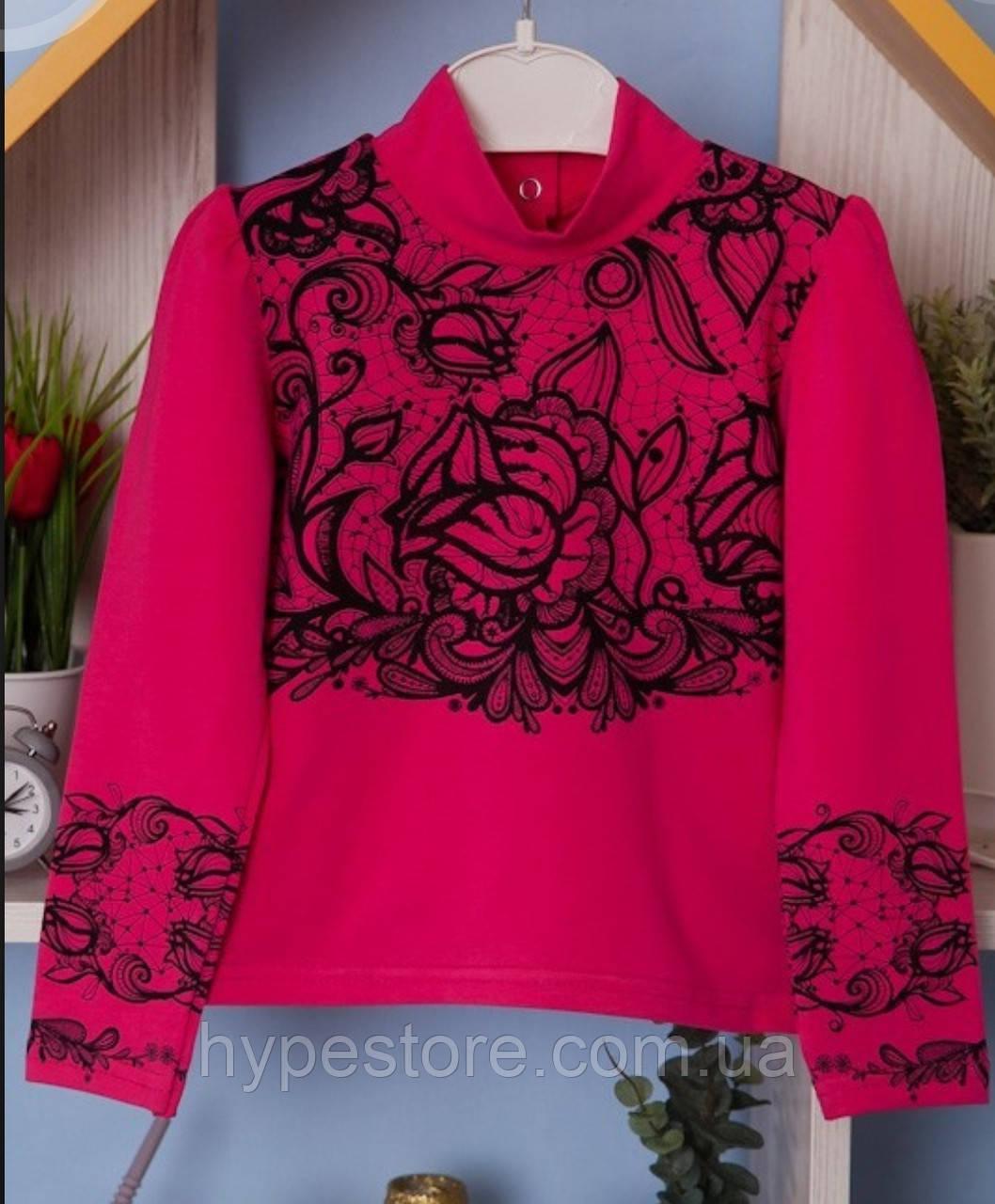 Красивая блузка, кофта для девочки в школу