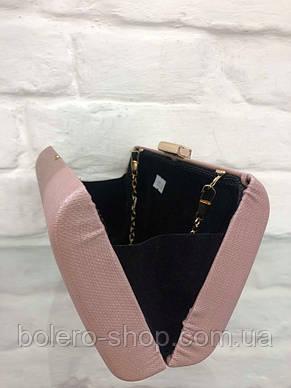 Женская сумка  экокожа  Италия коричневая, фото 3
