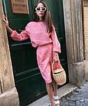 Женский льняной костюм: футболка из льна с длинными рукавами и шорты-бермуды, фото 2