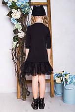 Стильное школьное платье черного цвета , фото 2