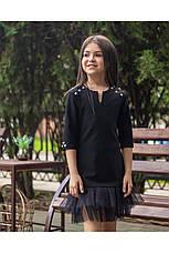 Стильное школьное платье черного цвета , фото 3