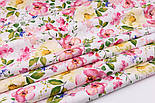 """Ткань хлопковая """"Цветущая яблоня"""" розово-кремовая на белом №2293а, фото 6"""