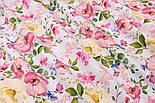 """Ткань хлопковая """"Цветущая яблоня"""" розово-кремовая на белом №2293а, фото 9"""