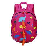 """Детский рюкзак """"Дино"""" розовый, фото 2"""