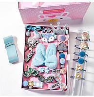 Набор украшений 24 заколок для Принцессы для девочки Голубой
