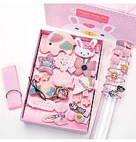 Набор 24 заколки для Принцессы для девочки Нежно розовый