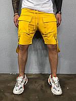 Чоловічі шорти жовті ada2032